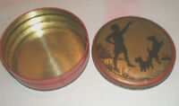 Vintage INDEPENDENT CAN Candy Tin Silhouette Scottie Dog Airdale