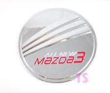 CHROME+RED OIL TANK FUEL CAP COVER TRIM FOR MAZDA 3 M3 4 DOOR SEDAN 4DR 2014-15