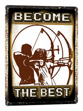 ARCHERY Bow and arrow METAL sign VINTAGE style olyimpic kids room wall decor 712