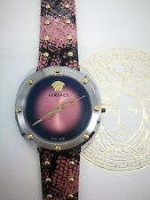 Versace Ladies watch Shadov Pink Snake Strap 18cm Swiss VEBM00818 2 Yrs Warranty