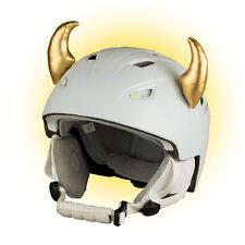 Goldene Hörner Horn für Skihelm Helm Ohren Golden Horn Horns Ear Ski Gold
