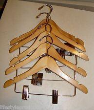5 NEW RICHARDS HANGERS 4 KIDS CLOTHES PANT SHIRT CLOSET WOOD WOODEN HANGER