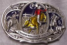 Pewter Belt Buckle Rodeo Championship Bull Rider NEW