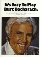 Its Easy To Play Burt Bacharach Learn to Play Piano Vocal & Guitar Music Book