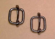Traditional 1:9 or Marx 1:6 Model Scale BUCKLES WITH TONGUES - Silver-toned PAIR