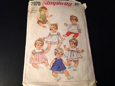 VINTAGE SIMPLICITY #7970 PATTERN FOR BETSY WETSY, GIGGLES, ETC. WARDROBE