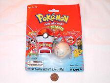 NEW Pokemon Jaw Breaker Taker Keychain 1999 jawbreaker Key Chain + 3 Stickers
