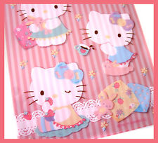 Hello kitty pink floral cozy home candy cookie transpartent gift bag 15pc M