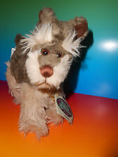 GANZ Cottage Collectables Scrubber Schnauser Dog Bell Collar Plush EUC with Tag