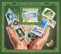 Chad - 2017 Stamps on Stamps - Stamp Souvenir Sheet - TCH17423b