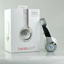 Fragment Design x Beats by Dr Dre Solo2 Wired Headphones Silver Hiroshi Fujiwara