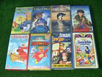 8 x VINTAGE VHS VIDEO TAPES KIDS BUNDLE **Snow White, Anastasia, Tom Thumb, etc