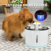 2.4L Automatic Pet Cat Dog Water Drinking Fountain Feeder Dispenser Machine