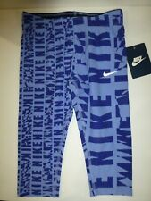Nike Girls Size 6X Chalk Blue Logo Graphic Leggings 36A778 New