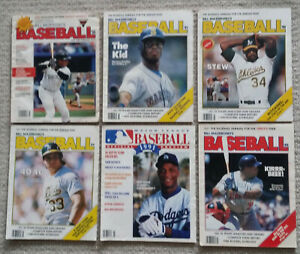 Lot of Bill Mazoroski' Baseball Magazines  1988 - 1994  The Kid Griffey Jr