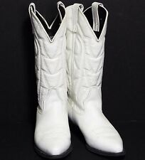 CAPEZIO Cowgirl White Leather Synthetic Wedding Cowboy Western Boots Women 7 EUC