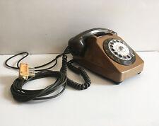 ANCIEN téléphone à ROULEAU  vintage SOCOTEL   années  70's 80's  VERT !