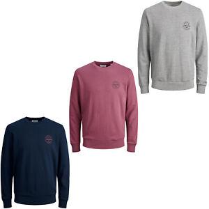Jack & Jones Mens Sweater Long Sleeve Crew Neck Chest Logo Originals Sweatshirt