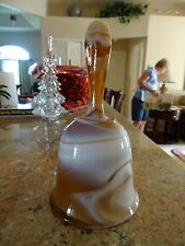 Imperial Glass Bell Carmel Chocolate Slag Glass with Label
