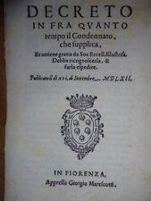 BANDI.DECRETO in fra quanto tempo il condennato, che supplica, et ottiene...1562