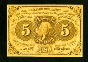 US Paper Money 1862 5c Fractional NO RESERVE!