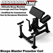 BARBARIAN Biceps Blaster BB-9056 Preacher Arm Curl Machine Commercial