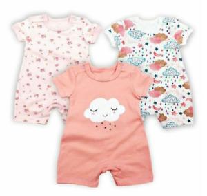 Mother Kids Cloud Design Romper Shorts 3 Pcs for 9 Months
