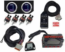 X4 Air Valve Manifold Wire Harness Chrome Digital Gauges AVS 7 Switch Box Black