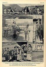 Korean general en uniforme de gala, entre otros, imagen documentos para russ. - jap. guerra v.1904