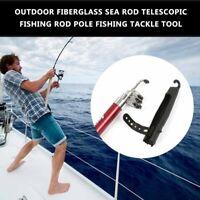 Outdoor Fiberglass Sea Rod Telescopic Fishing Rod Pole Fishing Tackle Tool HA