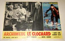 fotobusta originale ARCHIMEDE LE CLOCHARD Jean Gabin Gilles Grangier 1959 #6