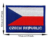 CZECH REP LONG COUNTRY FLAG  METALLIC BUMPER STICKER DECAL ..11.75 X 3 INCH