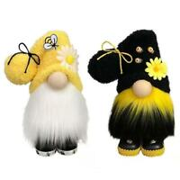 Bumble Bee Gnome Plush Dwarf Swedish Figurines Bee Decorations Party Gift