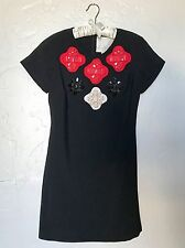 Karta Black and Red Jeweled Dress Size L