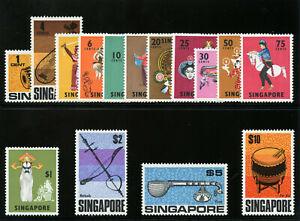 Singapore 1968 QEII Definitives set complete superb MNH. SG 101-115.