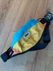 Art Class color block blue yellow orange Chill Vibes Only Print Fanny Pack NWT