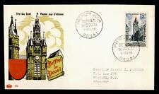 DR WHO 1956 FRANCE FDC BELFRY AT DOUAI PAC CACHET C238709