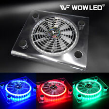 USB RGB LED Cooler Cooling Fan Pad Stand for PS4 Playstation 4 Laptop Notebook