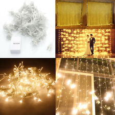 300LED Outdoor Christmas Fairy Curtains String light for Xmas Wedding Party 3x3M
