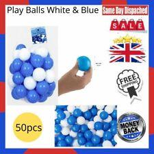 Play Balls White & Blue 50pcs