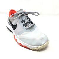 Men's Nike FI Impact 2 Golf Shoes Sneakers Size 9 W Wide Gray Orange Black AI7