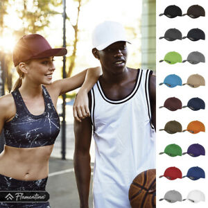 Flexfit Fitted Baseball Cap Hat Curved Peak 6 Panel Mid Profile Shape Silver