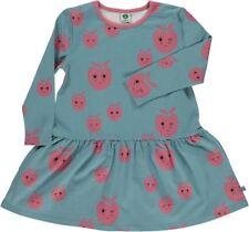 Smafolk Langarm Kleid hell blau mit rosa Äpfeln 5-6 Jahre (Gr.110-116) !!Neu!!