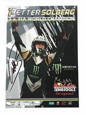 Petter Solberg Hand Signed World Champion Rally Poster Rare 1.