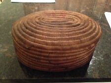 Native American Indian Coiled Covered Basket Possibly California