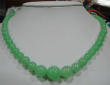 """Charming ! 6-14mm Natural Emerald Beads Necklace 18"""" JN1047"""
