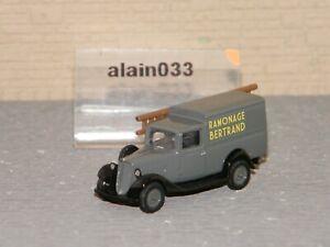 CITROËN U11 Truck 1935 Grey Ramonage NOREV 1/87 Ref 159927