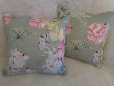 """Listing Cosmos by Laura Ashley 1 Pair of 18""""cushion Covers Viscose/linen"""