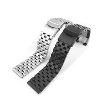 20/22/24mm Stainless Steel Strap Straight Metal Bracelet Wrist Watch Band