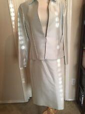 Albert Nipon skirt suit Light Dusk (blue)/Jacket Sz 8/Skirt Sz 12 (dry Cleaned)